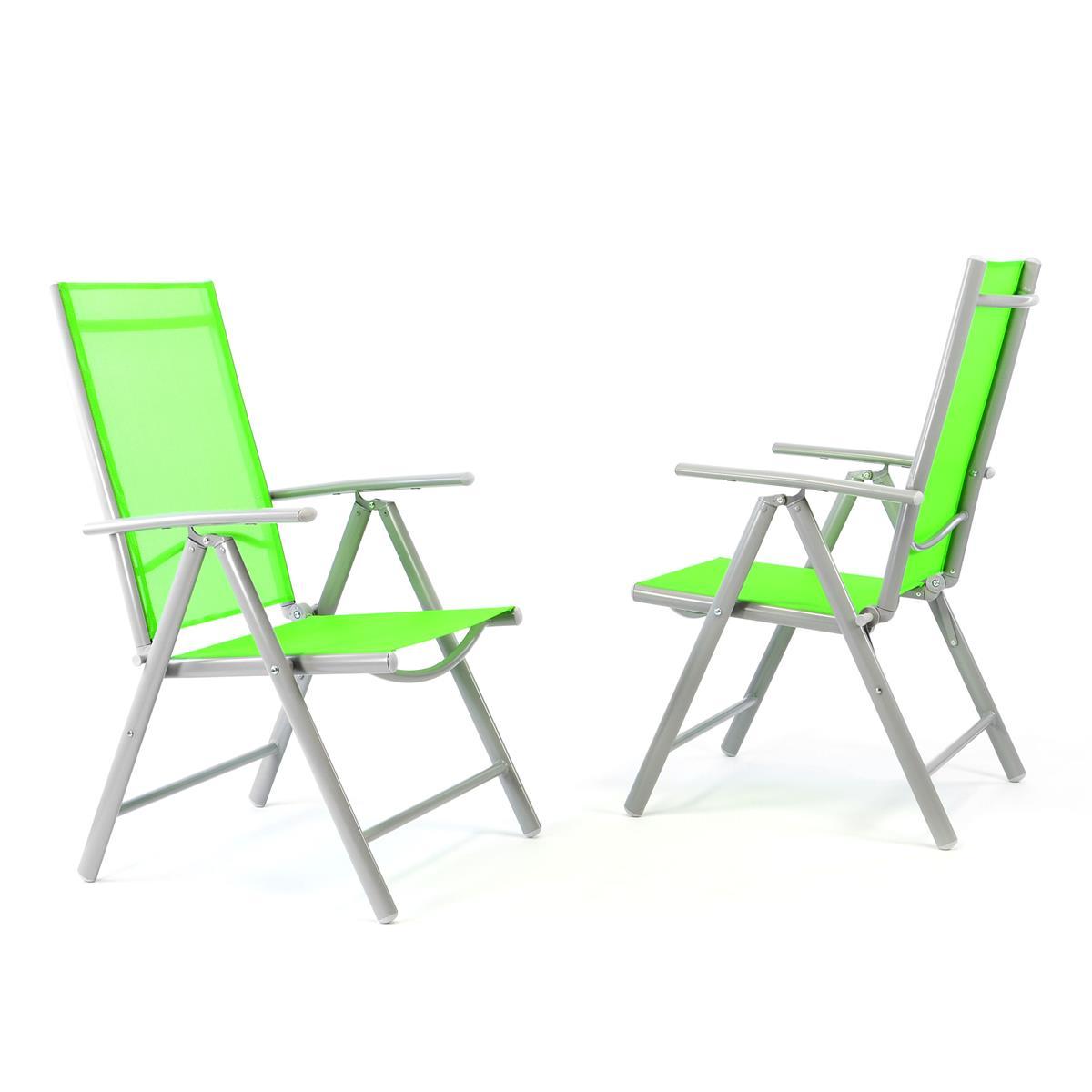 2er Set Klappstuhl grün Komfortbreite -Klappsessel Gartenstuhl Campingstuhl