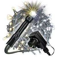 400 LED Lichterkette mit Farbwechsel warm weiß - weiß 9 Funktionen Weihnachten