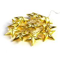 10 LED Lichterkette PVC Sterne gold warm weiß Batterie Durchmesser 7 cm