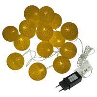 20 LED Lichterkette Kugel-Lichterkette mit Flechtdesign warmweiß Trafo Partydeko