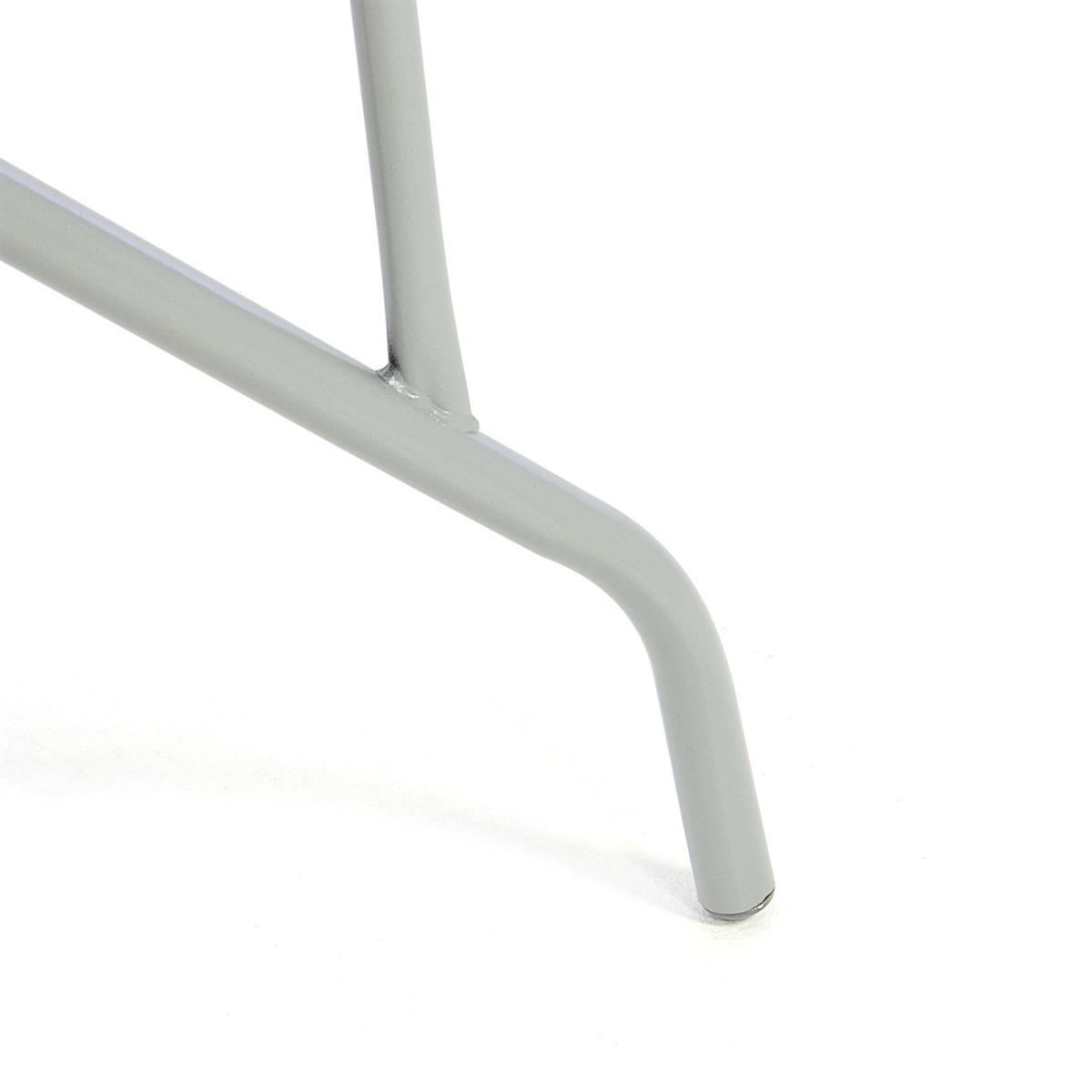 Küchentisch Zeichnen: Bistrotisch Eckig Grau Balkontisch Mit Glasplatte