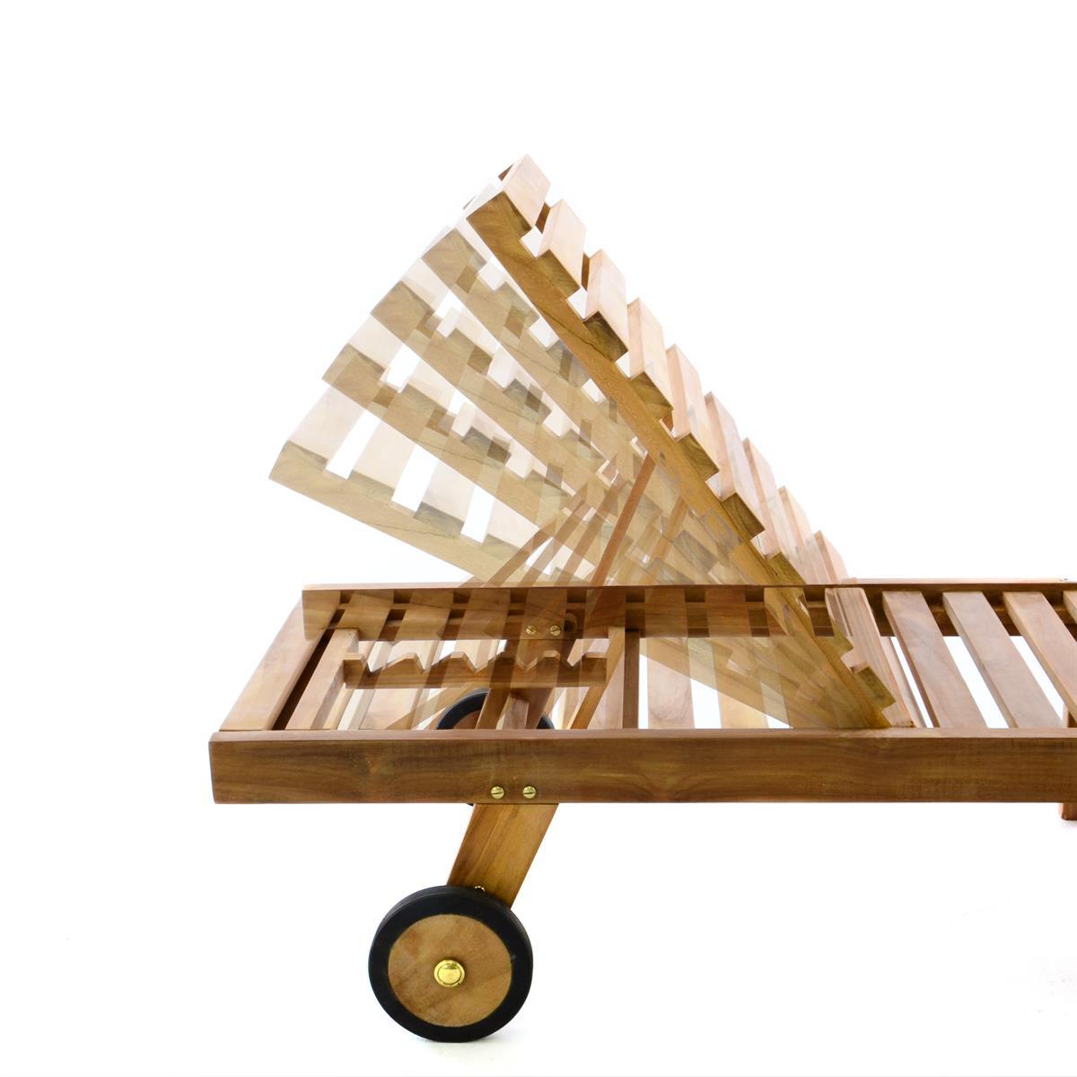 DIVERO Sonnenliege Gartenliege Liegestuhl Teak Holz klappbar behandelt 200x57cm eBay ~ 10133749_Teakholz Liegestuhl Gebraucht