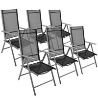 6er Set Klappstuhl schwarz Klappsessel Gartenstuhl Campingstuhl Liegestuhl