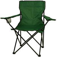 Faltstuhl Campingstuhl mit Armlehne und Getränkehalter grün Klappstuhl
