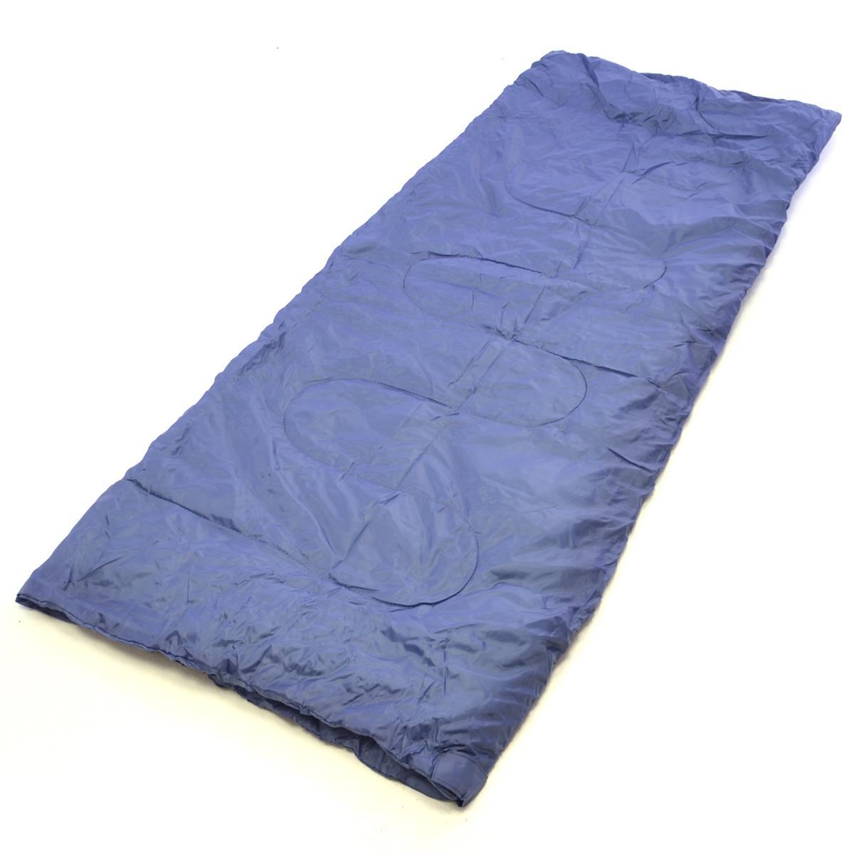 Schlafsack Karpala 190 cm 170T Polyester blaugrau 150g/m² 15-25°C Decke Camping