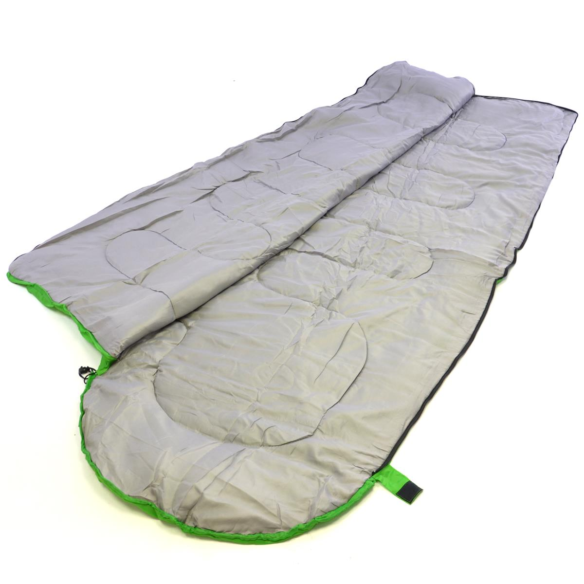 Schlafsack Alpa 200x70 cm Kapuze hellgrün 12-22°C 170T Polyester 200 g//m² 1 kg