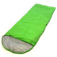 Schlafsack Alpa 200x70cm Kapuze hellgrün 12-22°C 170T Polyester Füllung 200 g/m²