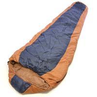 Mumienschlafsack Sierra orange-navy 210x74 cm 5-12°C 190T Polyester 2 kg Kapuze