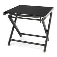 Alu Hocker klappbar Sitzhocker - Textilene schwarz - Rahmen dunkelgrau - Camping