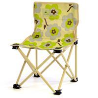 Camping Kinderstuhl beige Blumenmuster grün/grau faltbar Angelstuhl