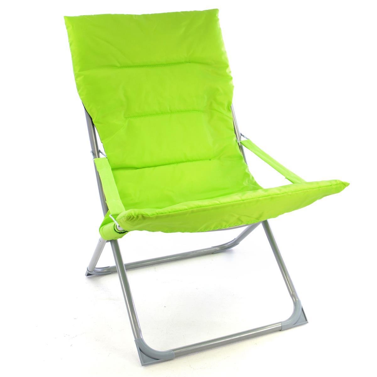 Camping Stuhl Apfelgrün klappbar Stahlrohr Gartenstuhl bis 110 kg Sessel