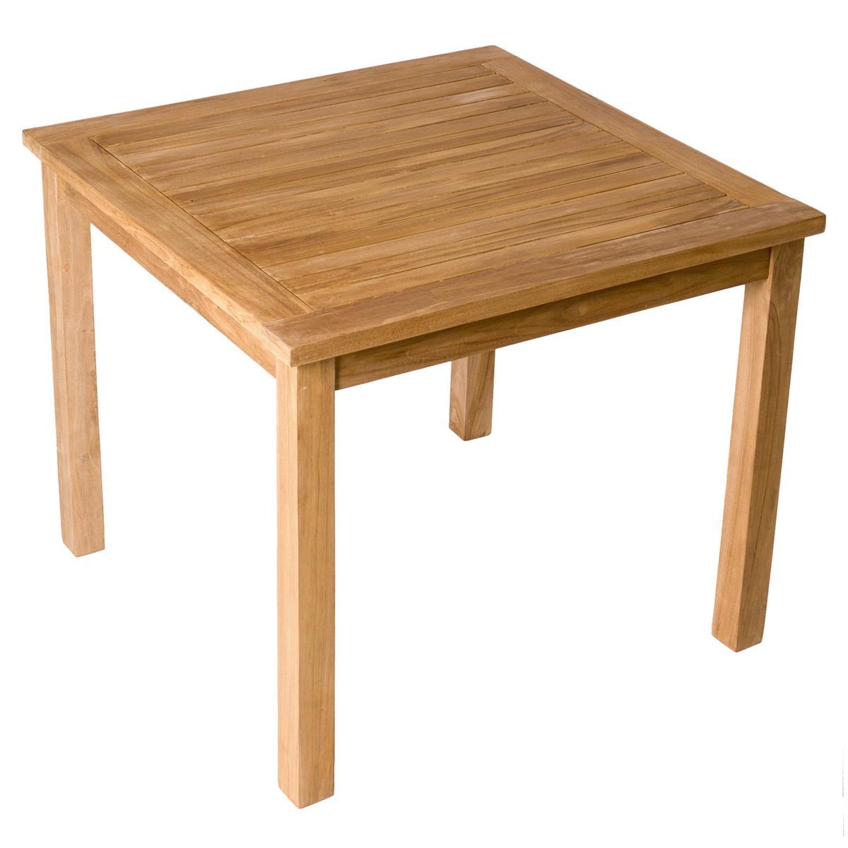 DIVERO Esstisch Gartentisch Balkontisch Teak Holztisch behandelt massiv 90x90