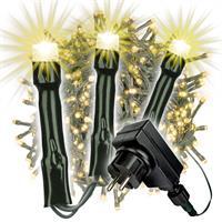 500 LED Büschellichterkette Cluster warm weiß Trafo Timer Lichterkette Xmas