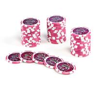 50 Poker-Chips Wert 5000 Laserchip 12g Metallkern OCEAN-CHAMPION-CHIP abgerundet