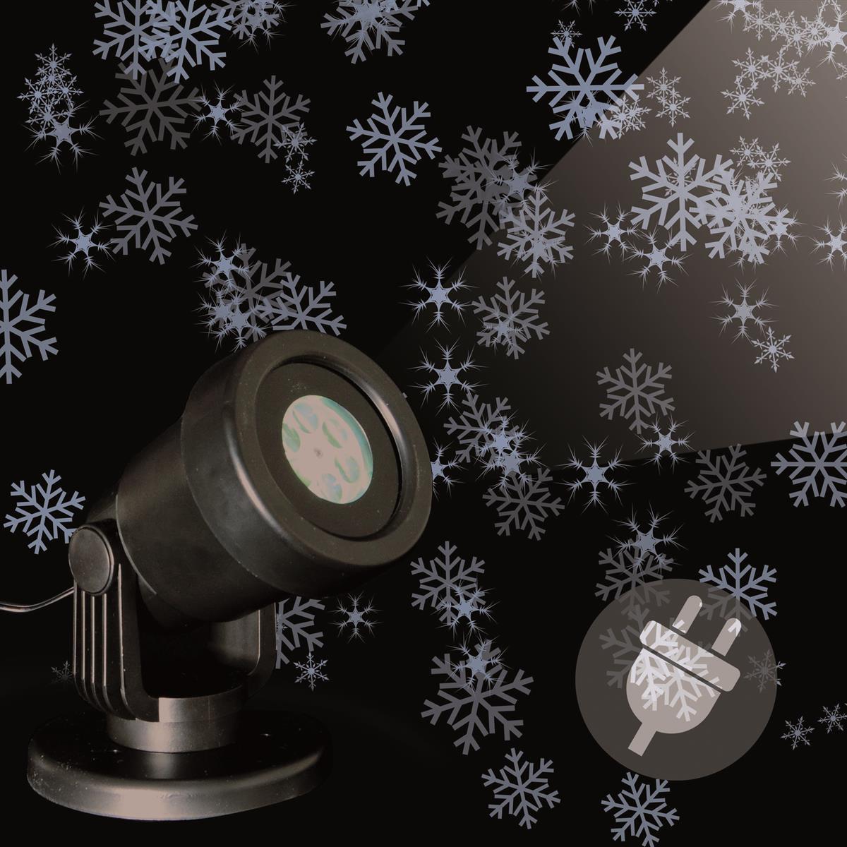 LED Projektor Strahler Schneeflocke weiß Fassadenstrahler Aussen wasserdicht