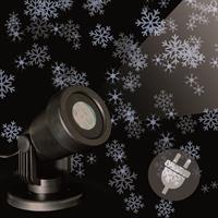 """LED Projektor Strahler """"Schneeflocken"""" weiß Fassadenstrahler Aussen wasserdicht"""