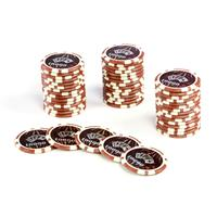 50 Pokerchips Wert 10000 Laserchip 12g Metallkern Ocean-Champion-Chip abgerundet