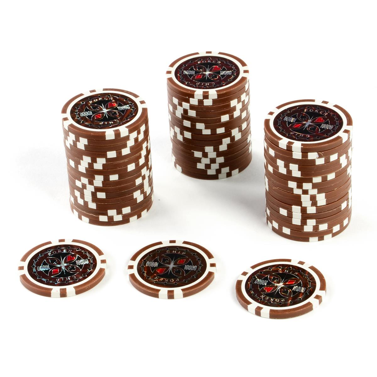 50 Poker-Chips Wert 10.000 Laserchip 12g Metallkern ergänzend zum Pokerkoffer