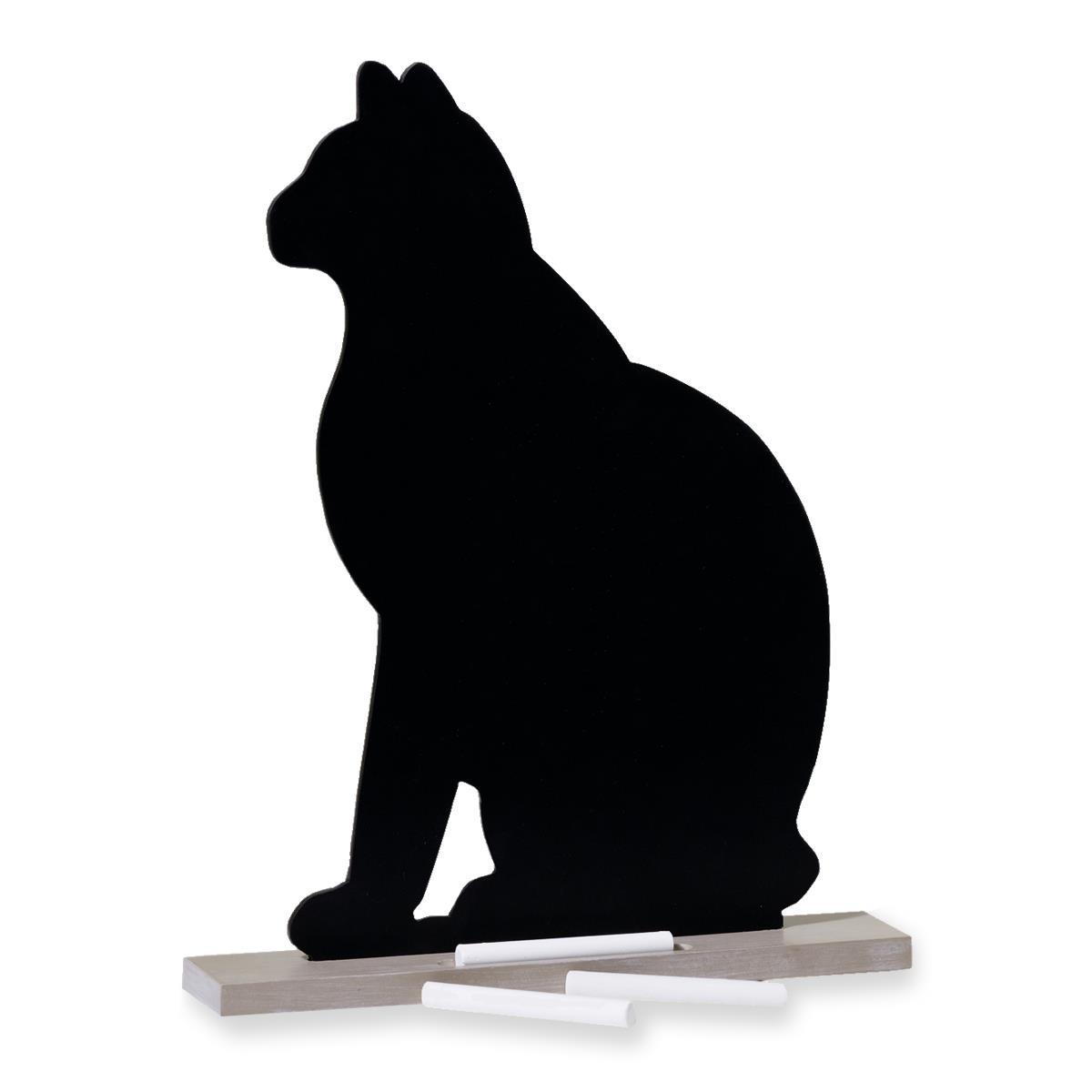 Wenko Memotafel Katze Kreidetafel mit 6 Kreidestücken Geschenk-Idee 77061900