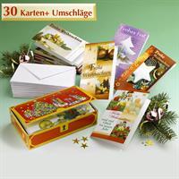 Wenko Grußkarten Sortiment Weihnachtskarten Silvester 30 Klappkarten inkl. Umsch