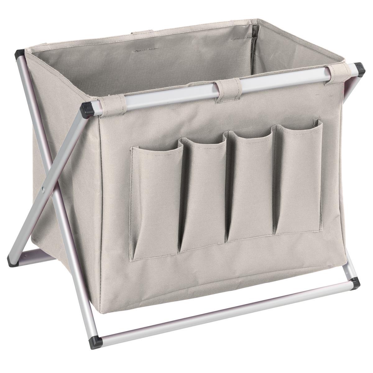 Wenko Zeitungsständer Multi beige Aluminium Gestell klappbar 3440015500