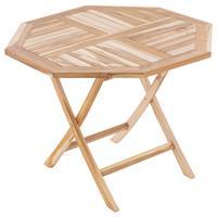 DIVERO Balkontisch Gartentisch Tisch Esstisch Holz Teak klappbar Ø100cm natur