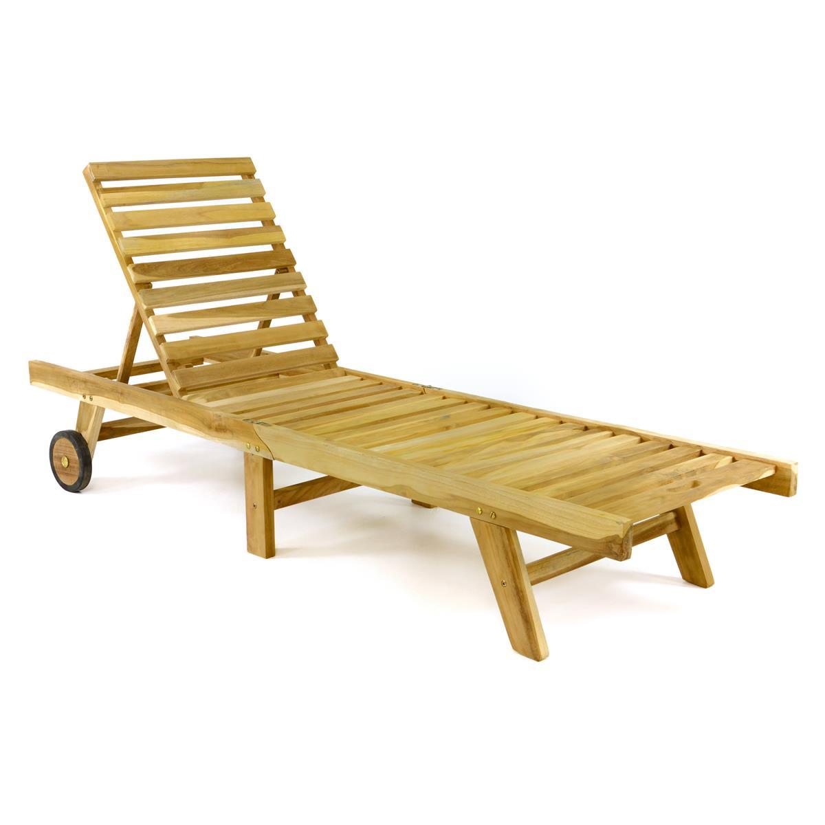 Sonnenliege Klappbar Holz.Divero Sonnenliege Gartenliege Liegestuhl Teak Holz Klappbar