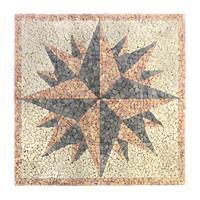 DIVERO Fliesen Rosone Windrose Mosaik Marmor Naturstein 120 x 120 cm