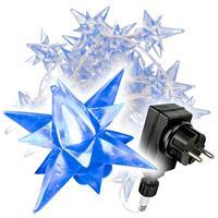 40 LED Sternenlichterkette blau Trafo Weihnachsbeleuchtung Sternenkette Xmas