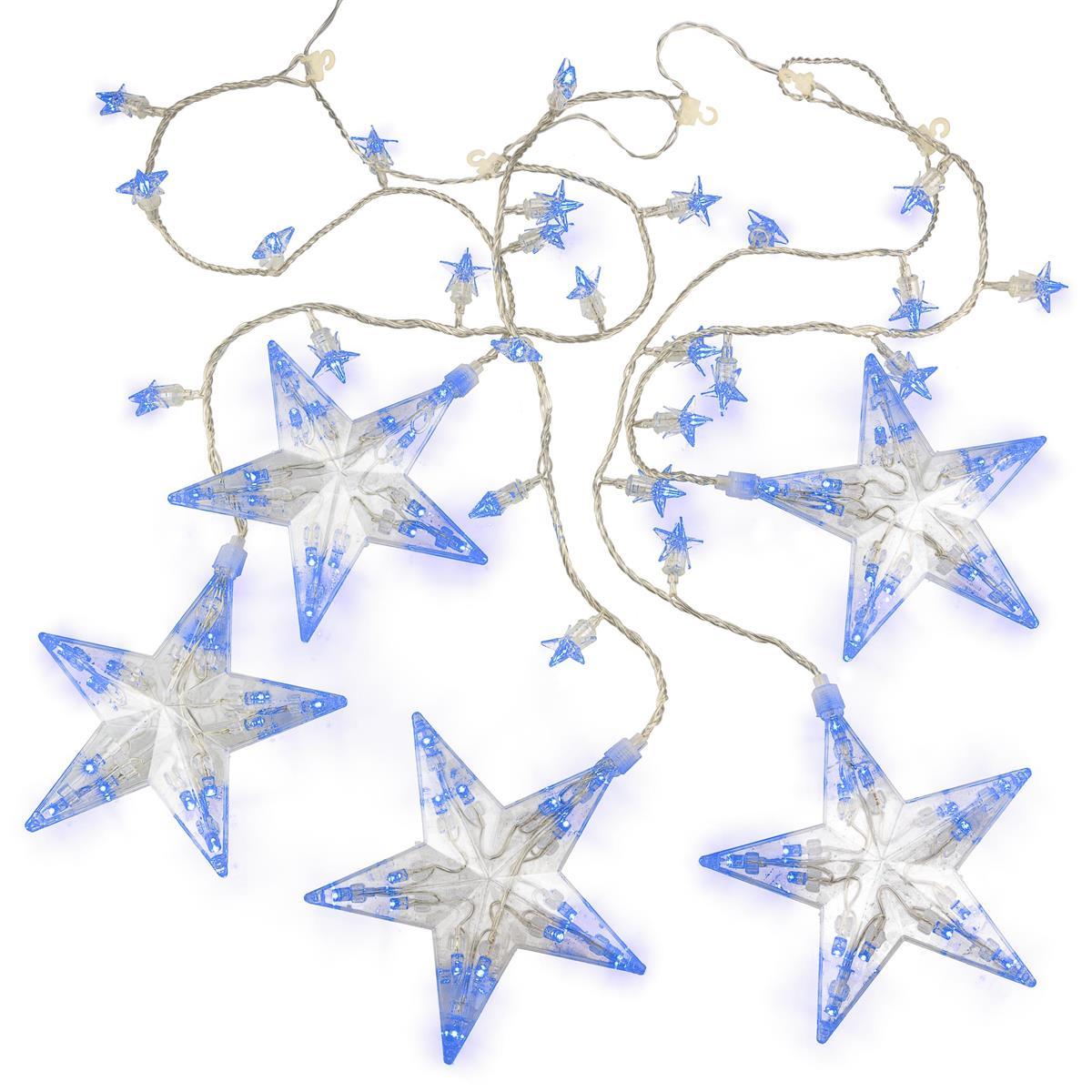 100 LED Lichterkette Sternenlichterkette blau Weihnachtsdeko Lichtervorhang Xmas